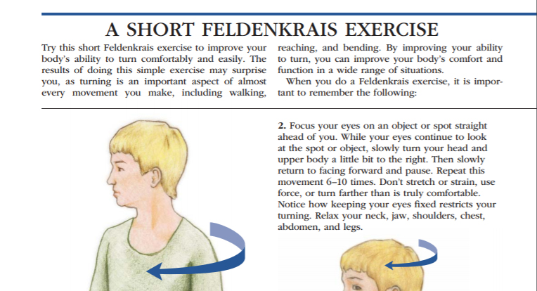 Feldenkrais exercises for arthritis article caption