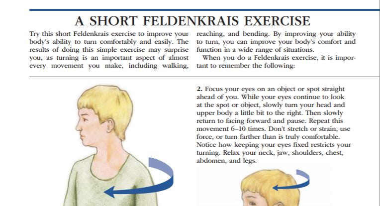 Feldenkrais exercises for arthritis article caption