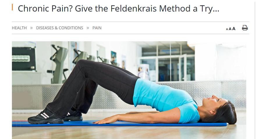 try Feldenkrais for chronic pain article